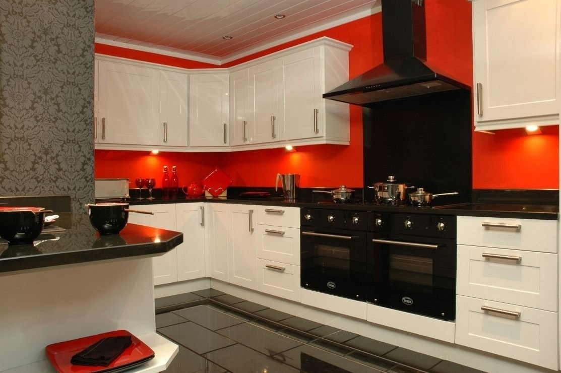 10 Attractive Red And Black Kitchen Ideas kitchen ideas kitchen top red black and white kitchen decor white 2021