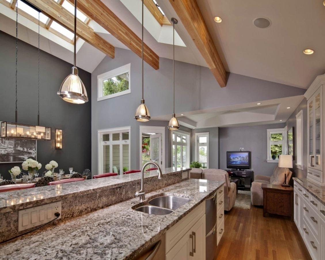 10 Trendy Lighting Ideas For Vaulted Ceilings kitchen lighting ideas for cathedral ceilings e280a2 kitchen lighting design