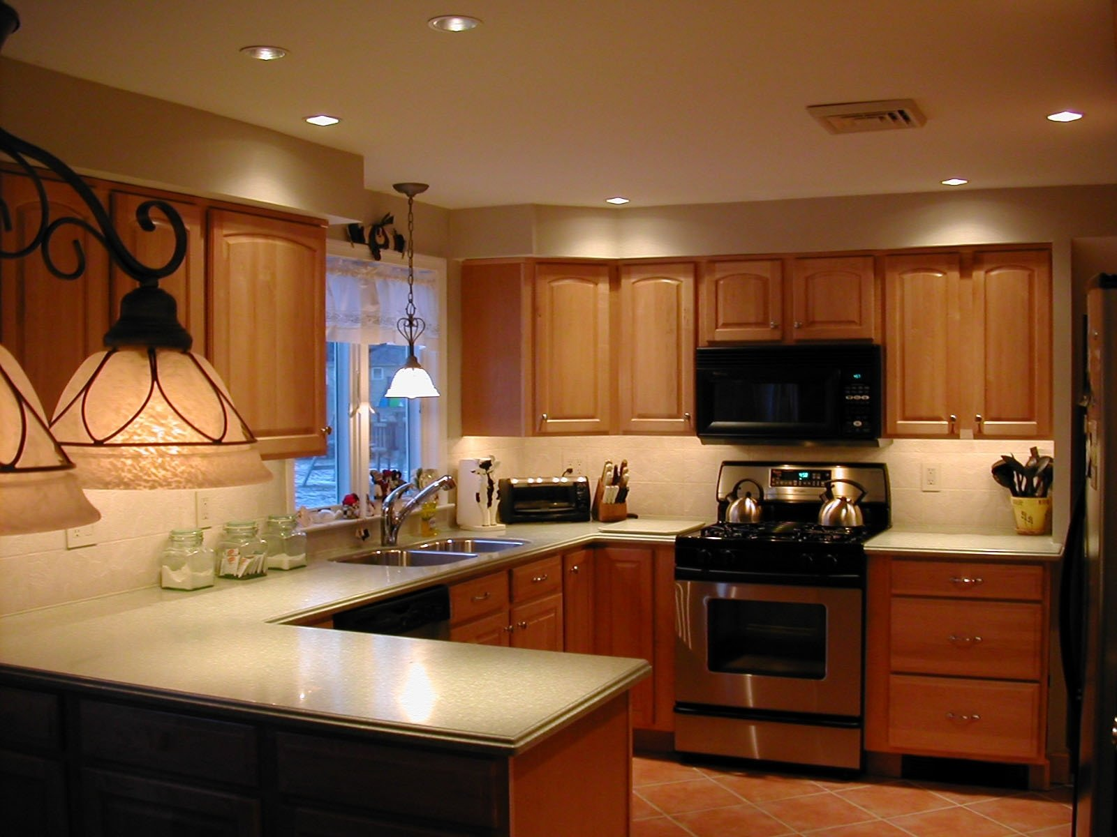 kitchen lighting ideas small light in pictures if kitchens cabinet