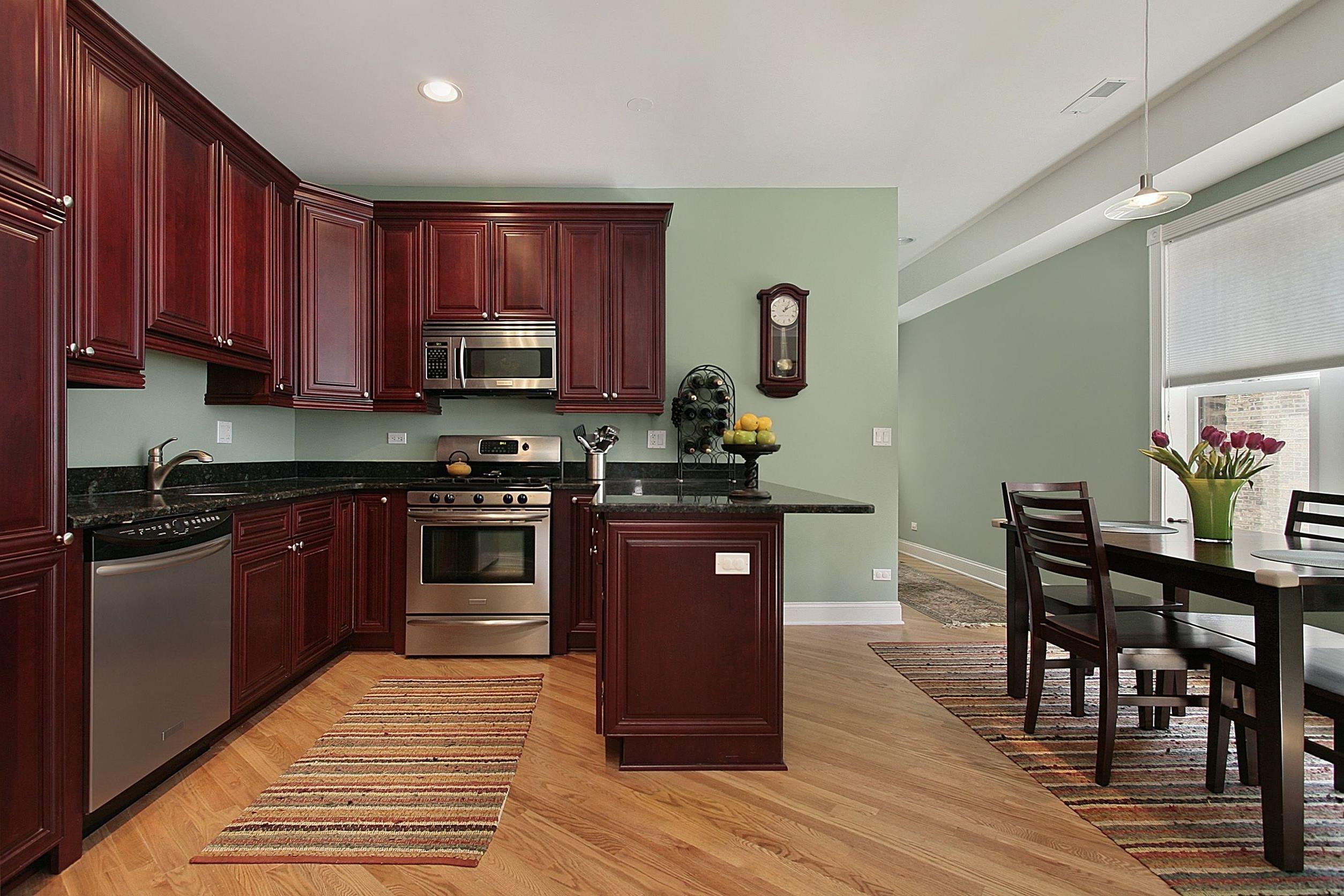 10 Pretty Kitchen Paint Ideas With Dark Cabinets kitchen paint colors with dark wood cabinets felice kitchen 1 2020