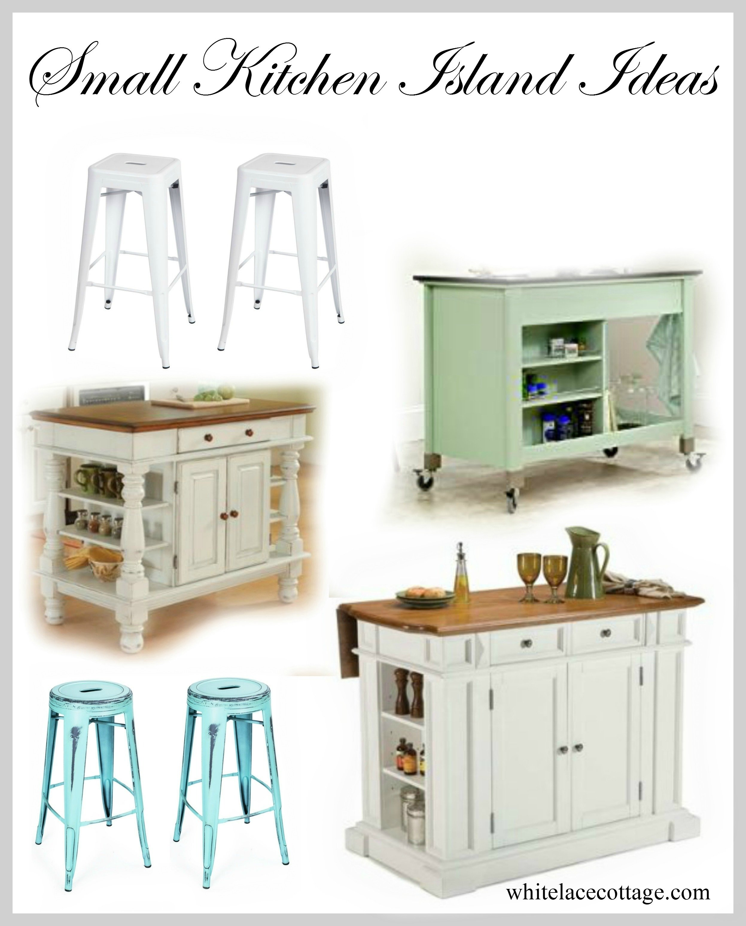 10 Wonderful Small Kitchen Island Ideas With Seating kitchen small kitchen island ideas with seating white lace cottage 2020