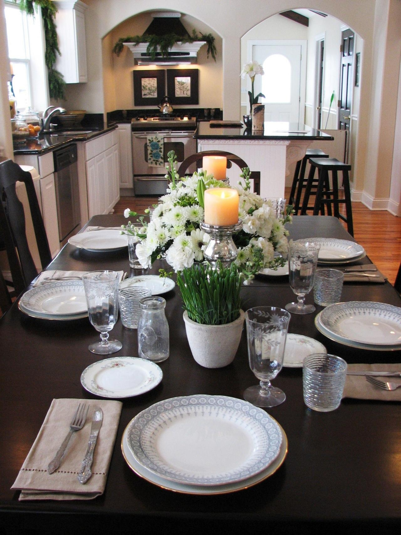 kitchen table centerpiece design ideas + hgtv pictures | hgtv