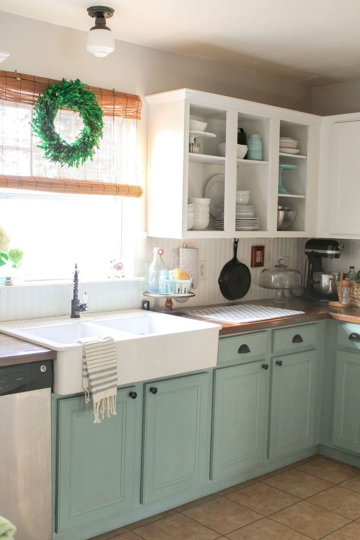 10 Lovely Painting Ideas For Kitchen Cabinets kitchen trend colors chalk paint cabinets painting fresh to have 2020