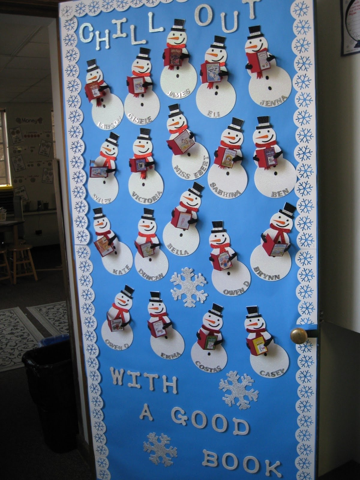 10 Gorgeous Winter Wonderland Bulletin Board Ideas kleinspiration holiday door decorations for classrooms and creative 2021