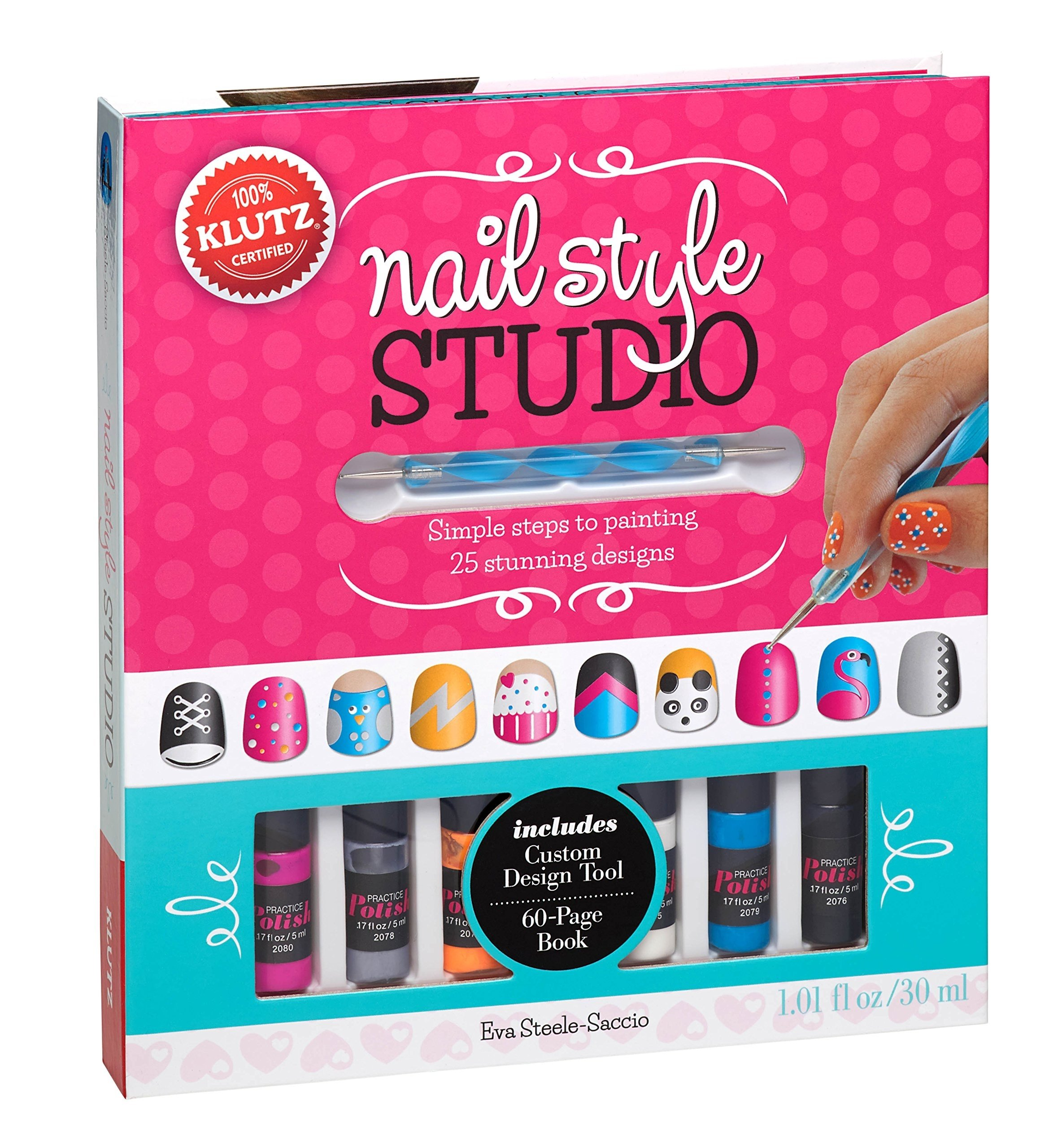 10 Great Christmas Gift Ideas For 10 Year Old Girls klutz nail style studio book kit sassy pants kaylee pinterest 2020