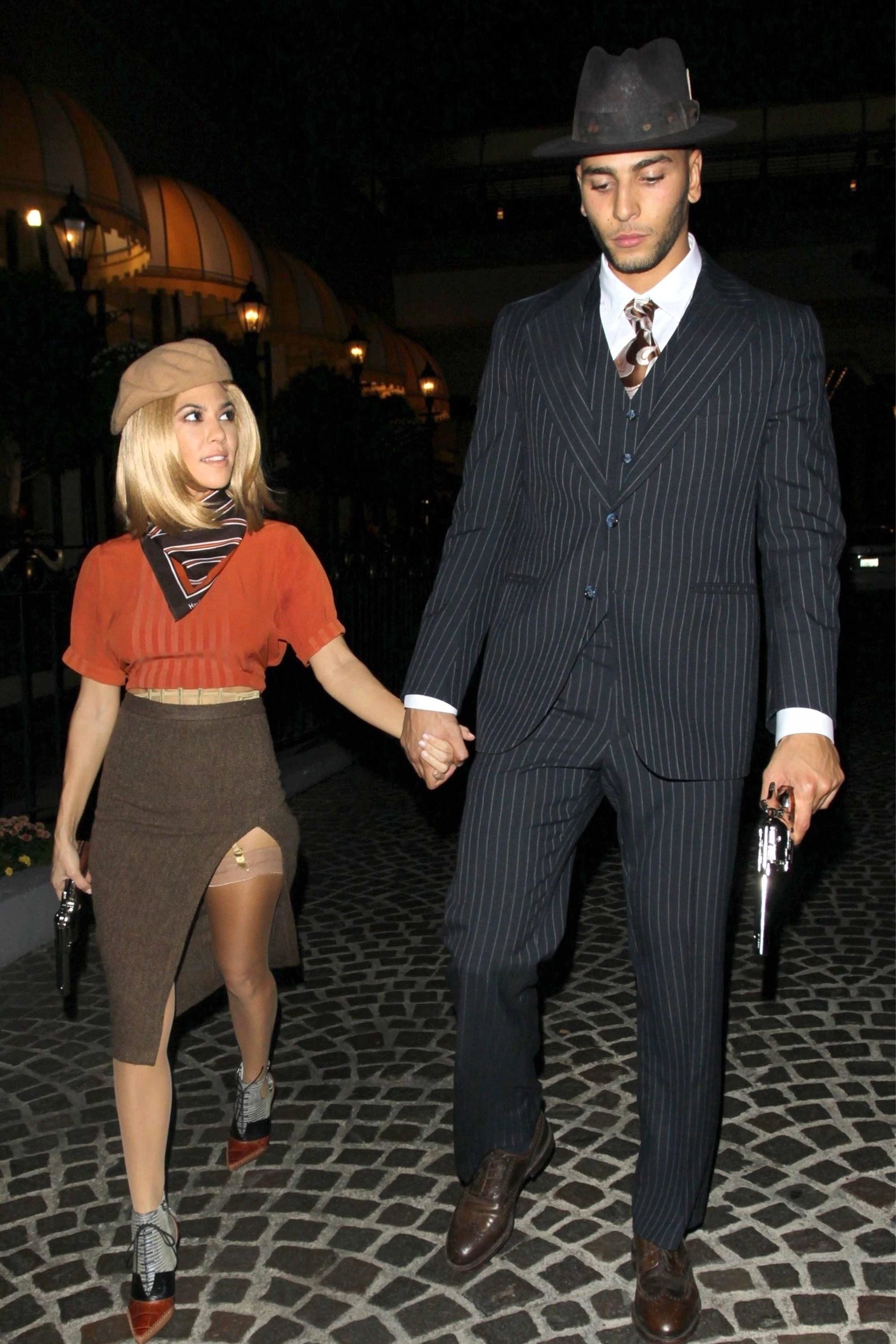 10 Trendy Bonnie And Clyde Costumes Ideas kourtney kardashian and younes bendjima expertly channel bonnie and