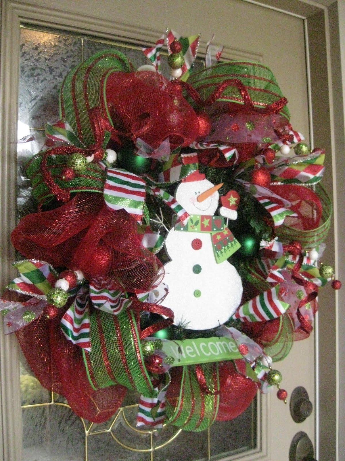10 Lovely Christmas Deco Mesh Wreath Ideas kristens creations christmas mesh wreath tutorial 2020