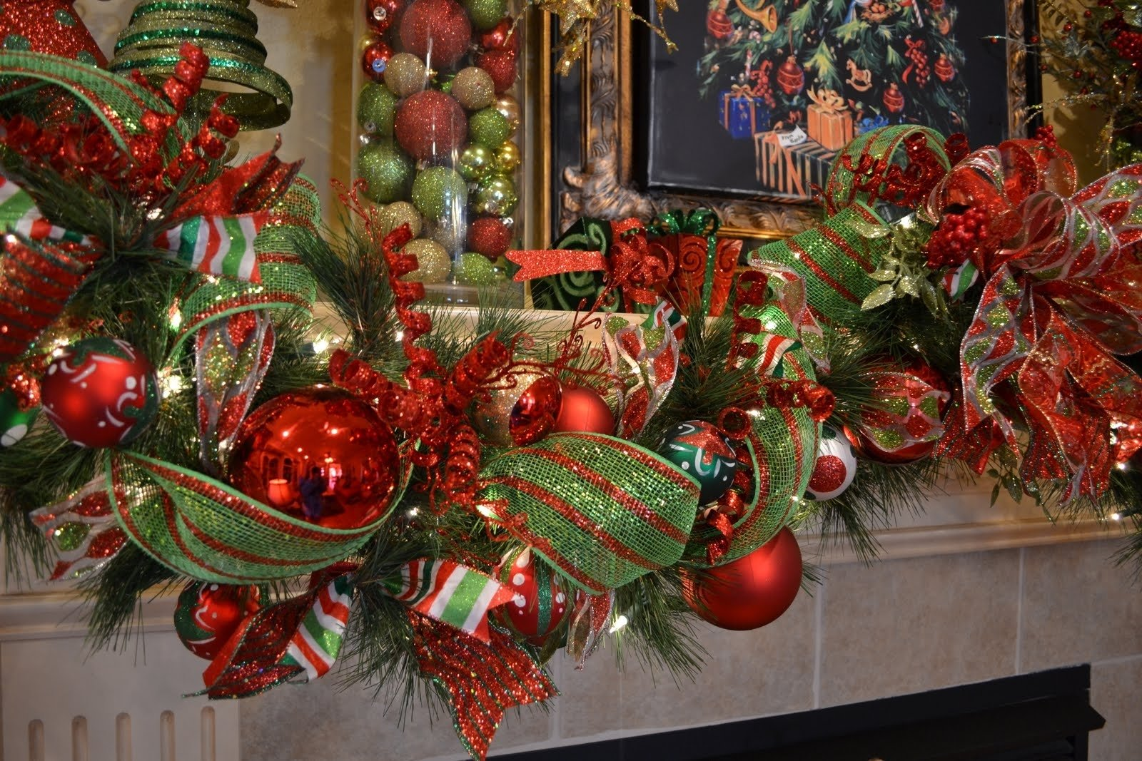 10 Fabulous Decorating With Mesh Ribbon Ideas kristens creations my christmas mantle 2021