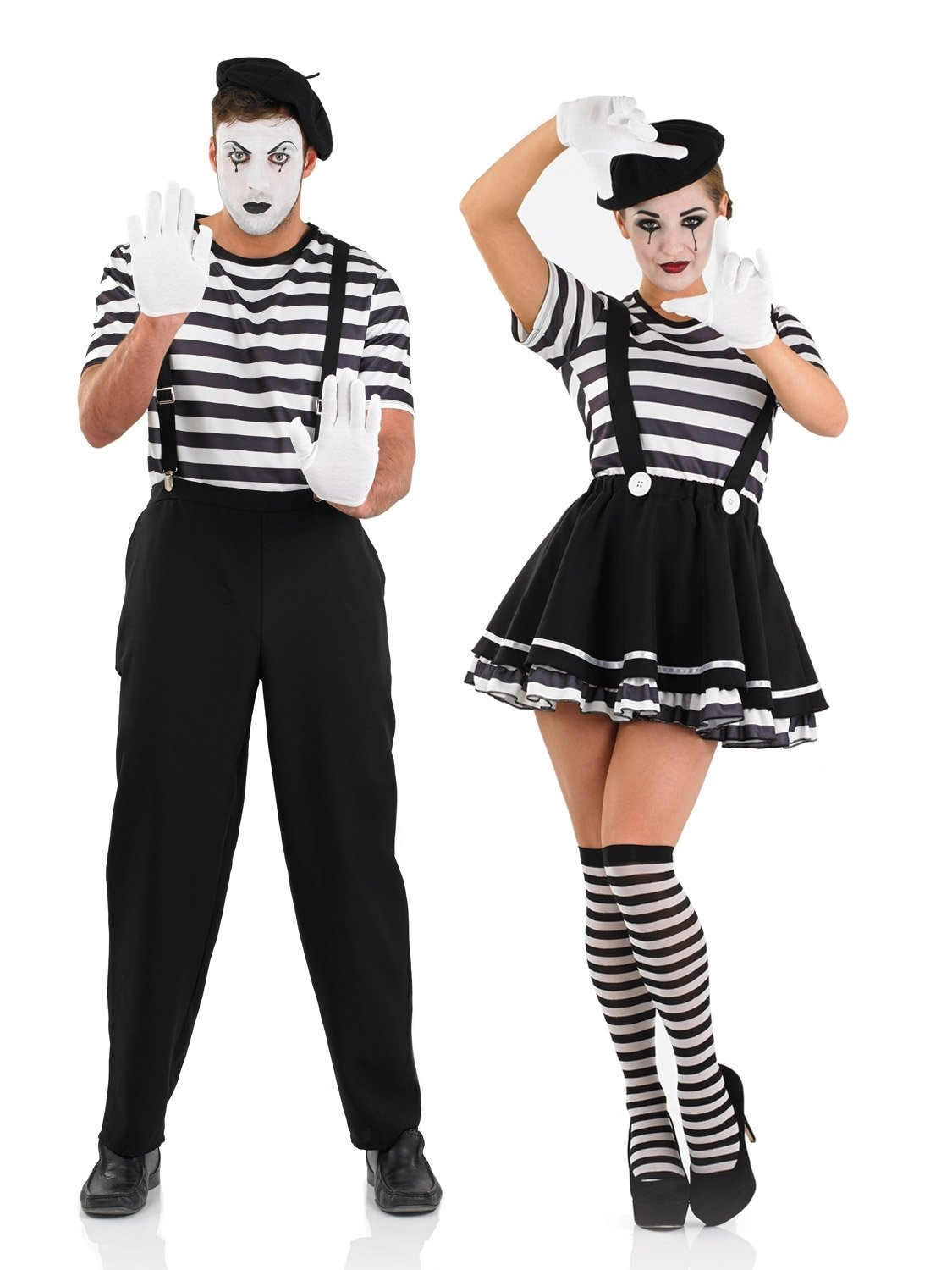 10 Best Black And White Costume Ideas ladies or mens mime artist costume all ladies fancy dress hub