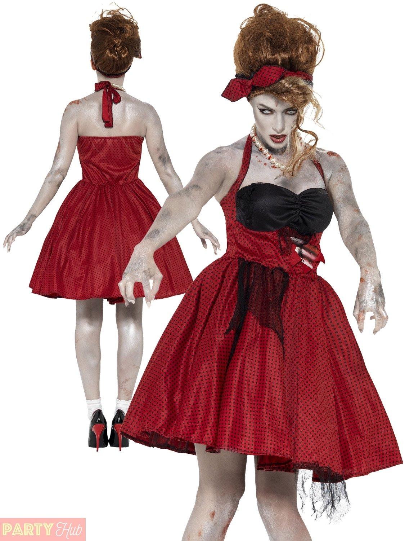 10 Ideal Rock N Roll Costume Ideas ladies zombie 50s rockabilly costume rock n roll unusual halloween 2021