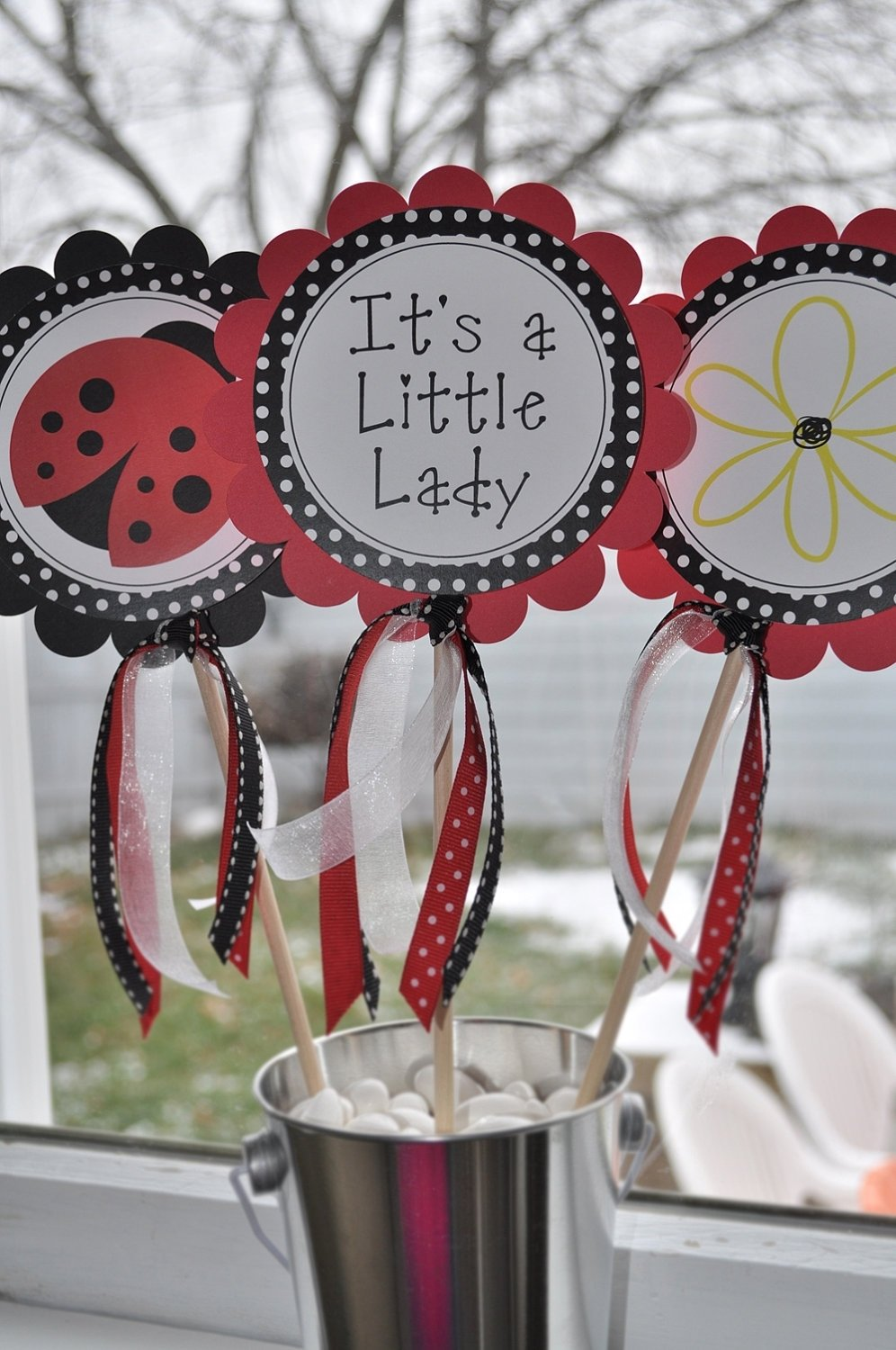 ladybug baby shower centerpiece ideas | omega-center - ideas for