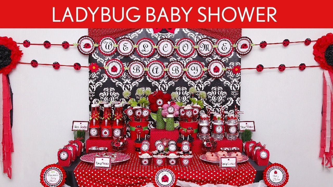 10 Attractive Lady Bug Baby Shower Ideas ladybug baby shower party ideas ladybug s18 youtube