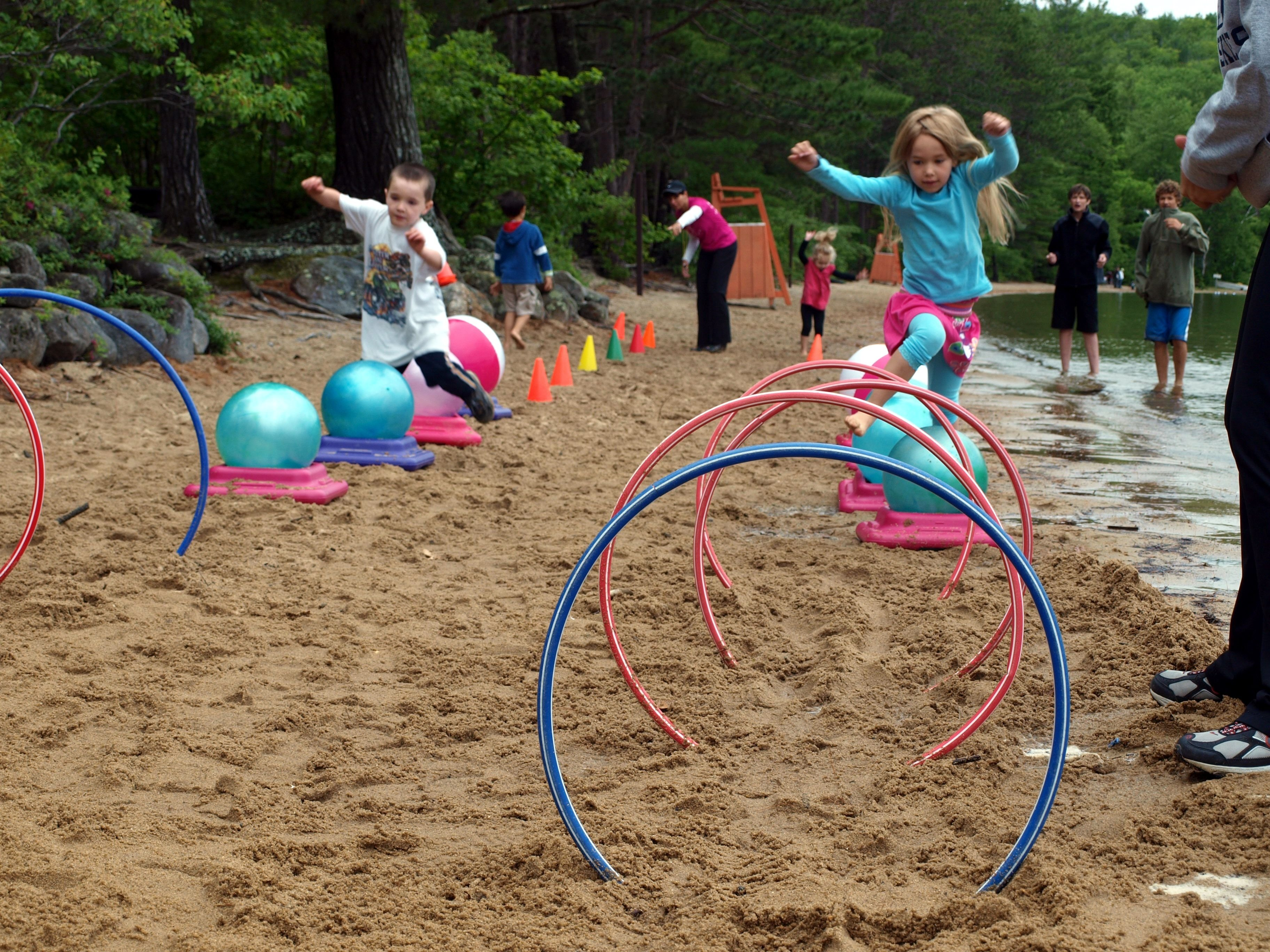 10 Beautiful Relay Race Ideas For Kids lake game for kids create an obstacle course using hula hoops 2020