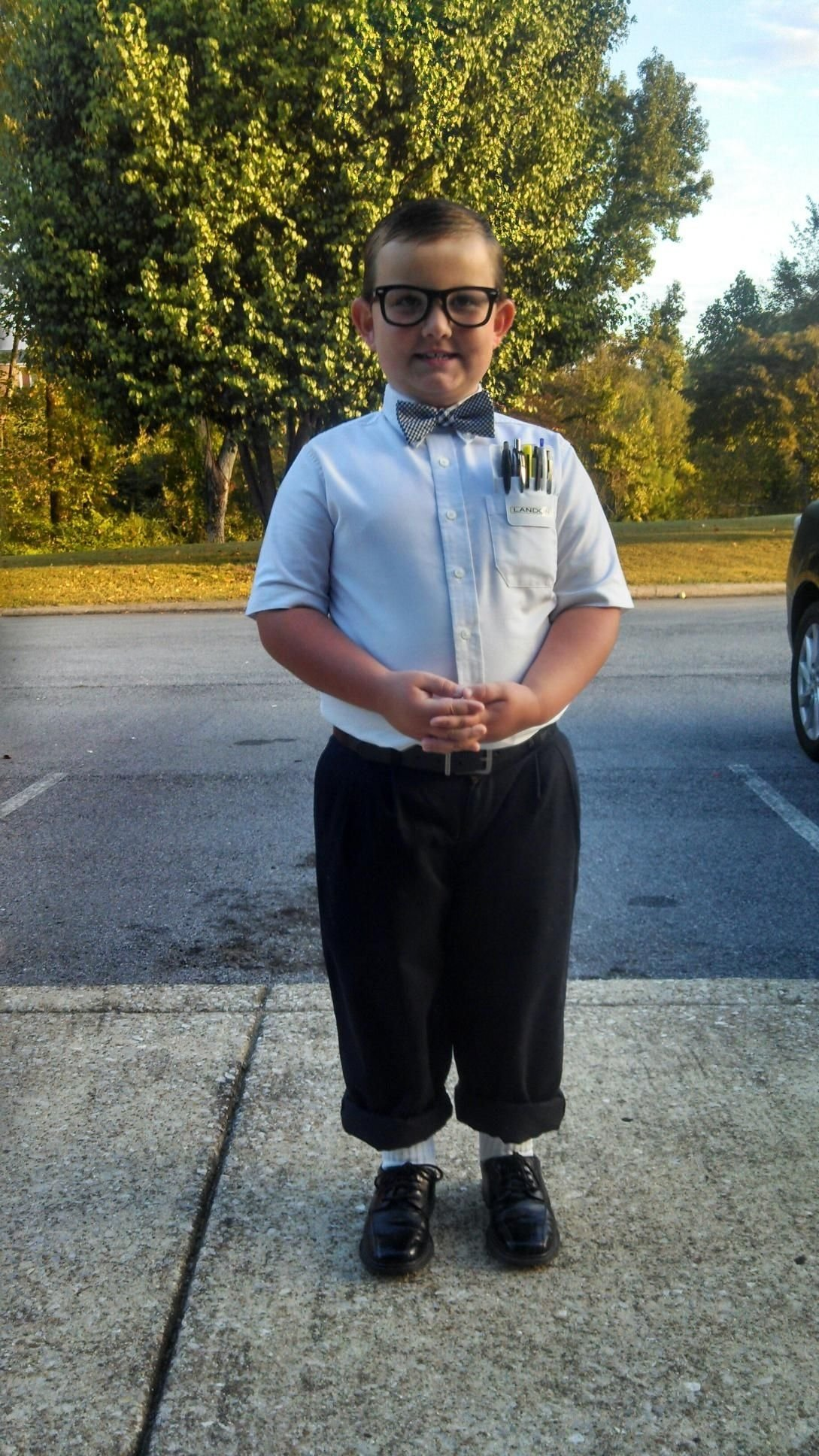 landon dressed for nerd day at school lol | aunties boys | pinterest