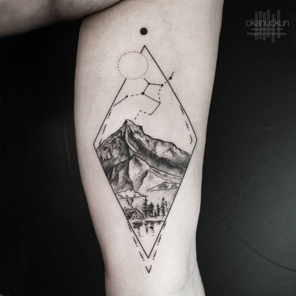 10 Spectacular Inner Bicep Tattoo Ideas For Men landscape tattoo on the left inner arm tattoo little tattoos 2020