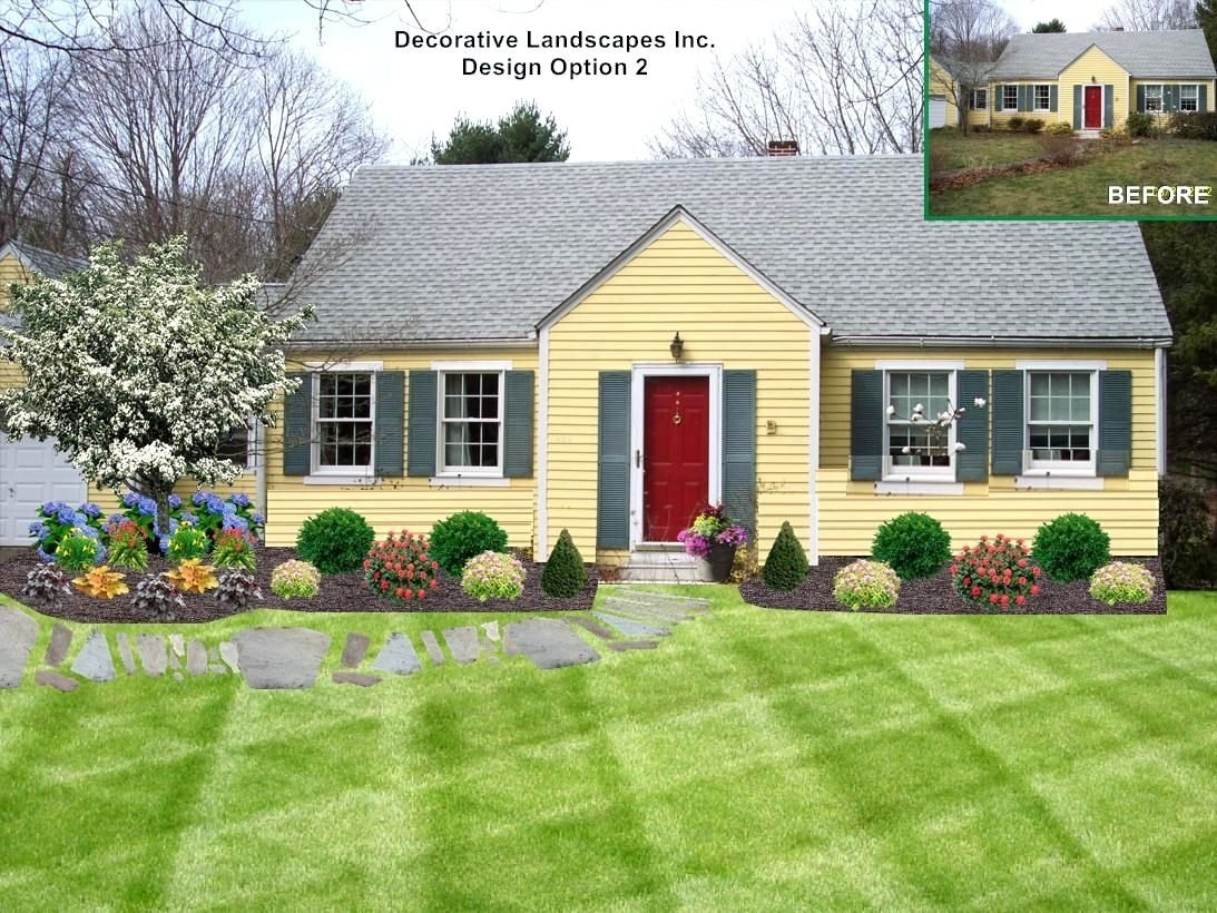 10 Stunning Landscaping Ideas Front Of House landscaping ideas front yard cape cod house the garden 2 2020