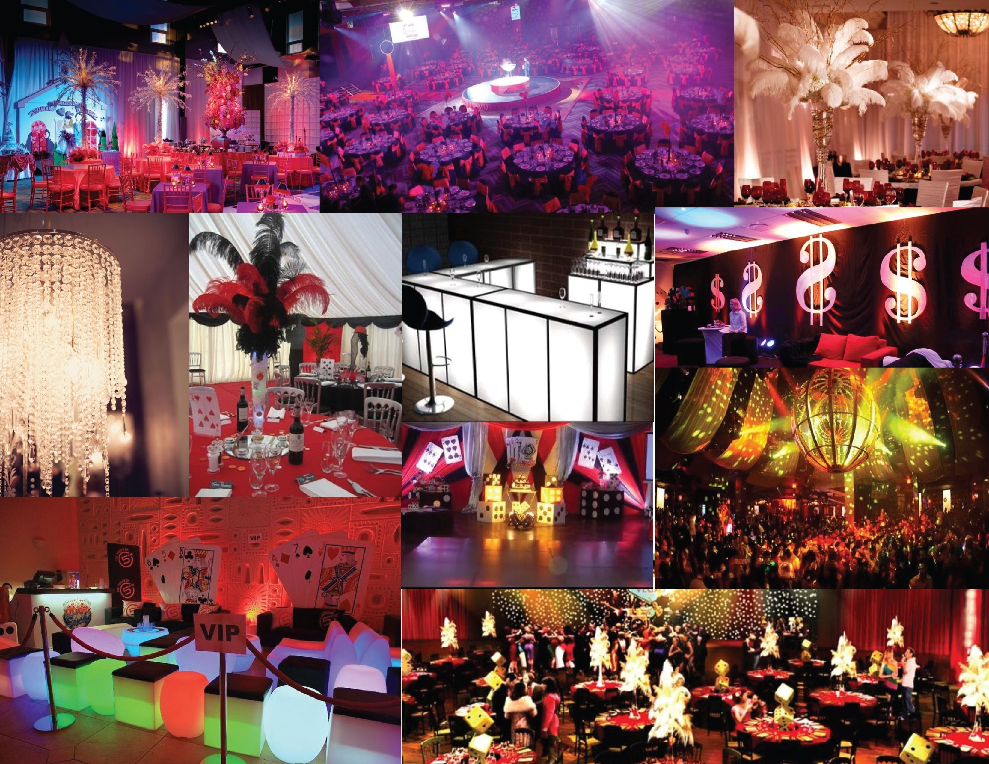 10 Attractive Birthday Party Ideas Las Vegas las vegas themed decor loving the feather centerpieces and the 1 2020