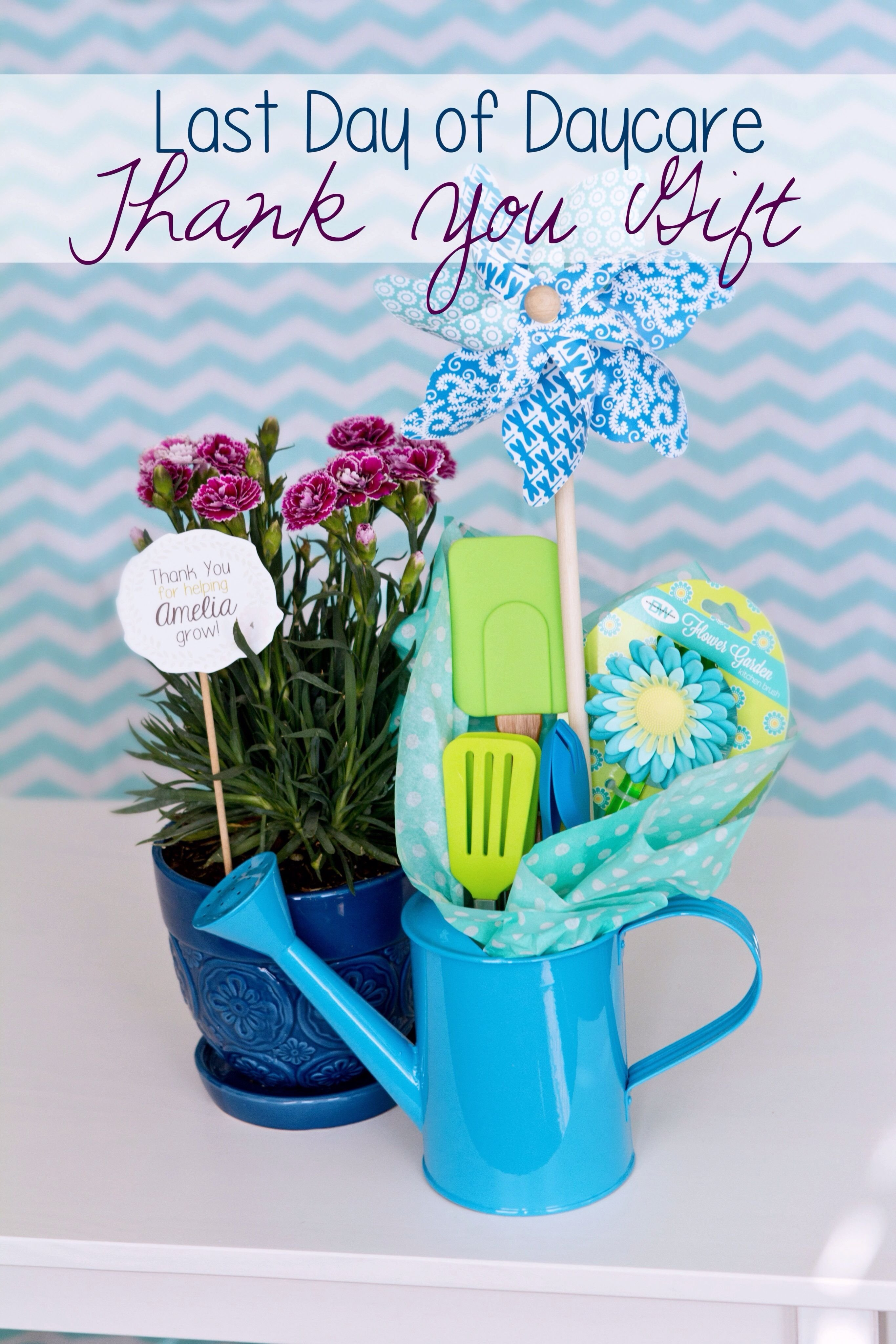 10 Pretty Daycare Teacher Appreciation Gift Ideas last day of daycare gift the tag says thank you for helping 2020