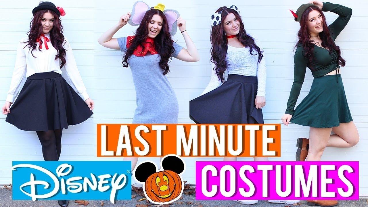 10 Beautiful Disney Character Dress Up Ideas last minute disney inspired costumes youtube 1 2020