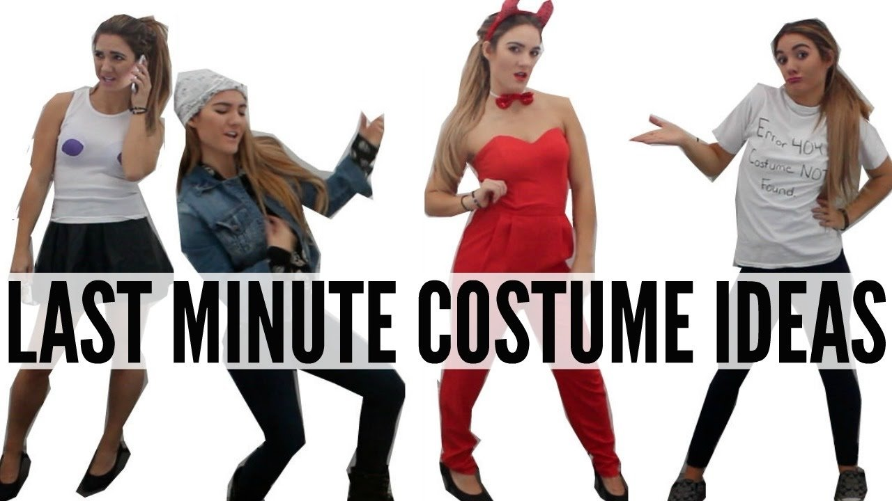 10 Great Quick Costume Ideas For Women last minute diy halloween costume ideas cheap quick youtube 2 2021