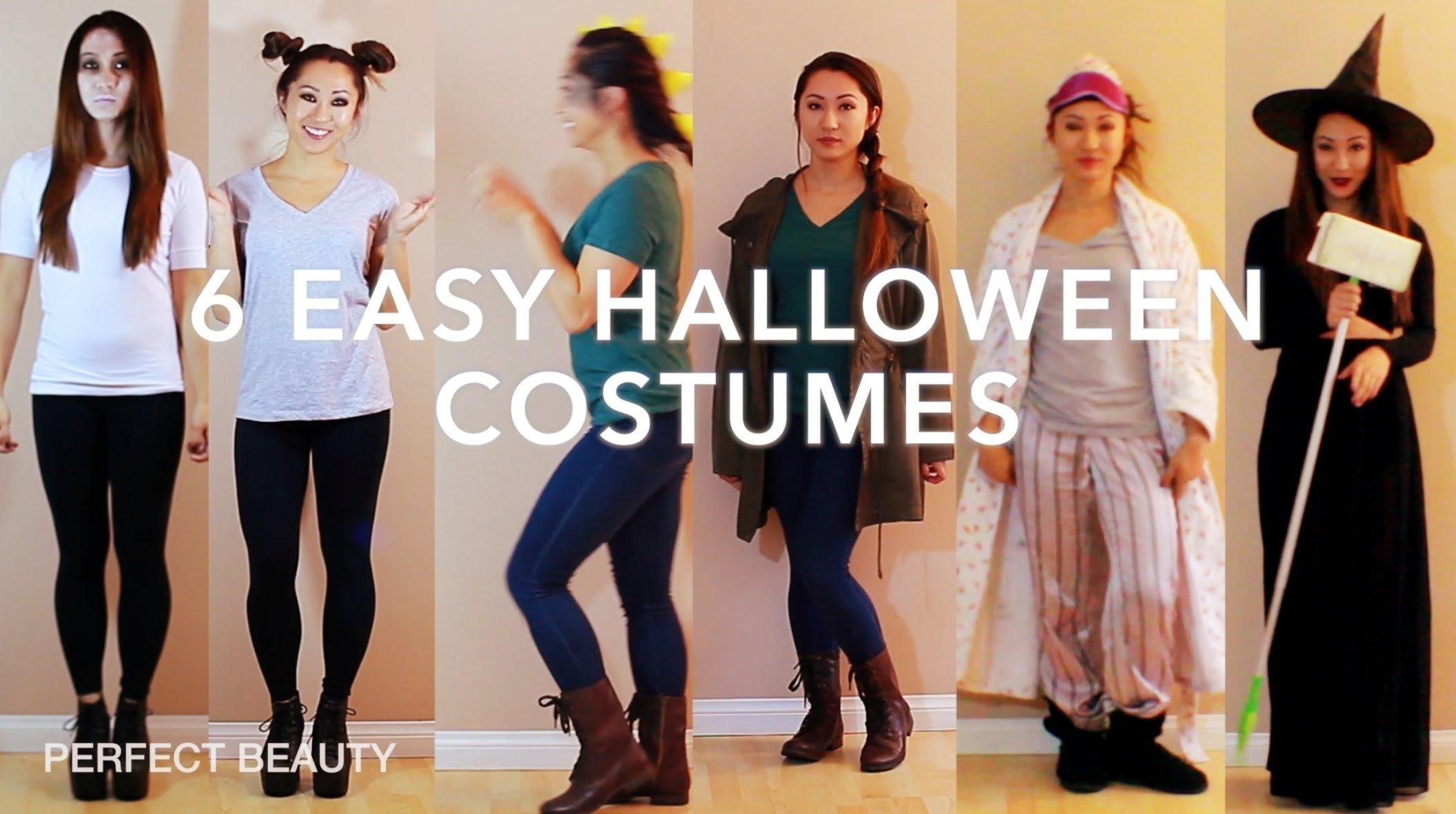 last minute! diy halloween costume ideas! perfect beauty - youtube