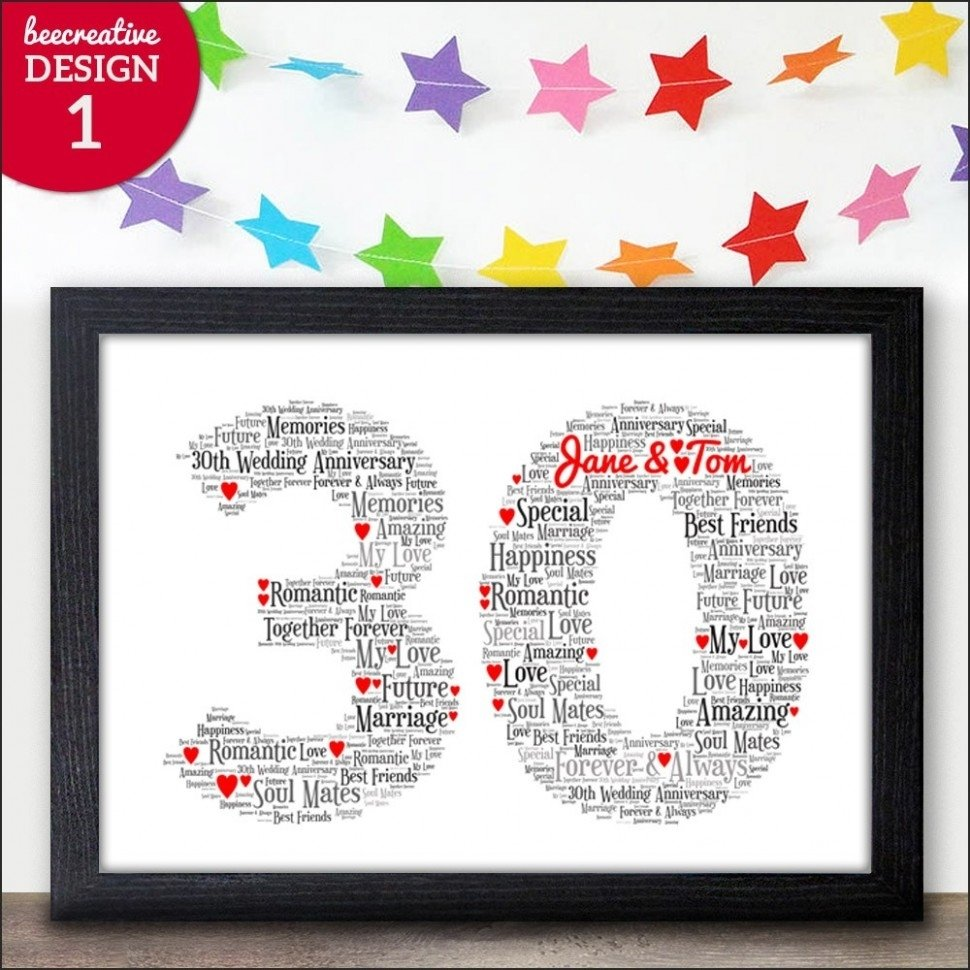 10 Lovely 30th Wedding Anniversary Gift Ideas