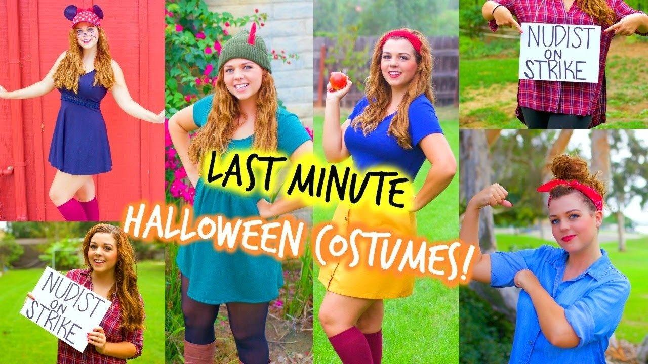 10 Nice Halloween Costume Ideas For Teenage Girls last minute halloween costume ideas for teen girls youtube 7 2021