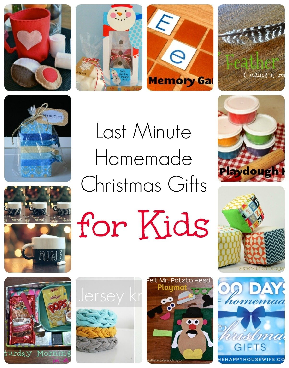 10 Most Popular Kids Christmas Craft Gift Ideas last minute homemade christmas gifts for kids homemade christmas