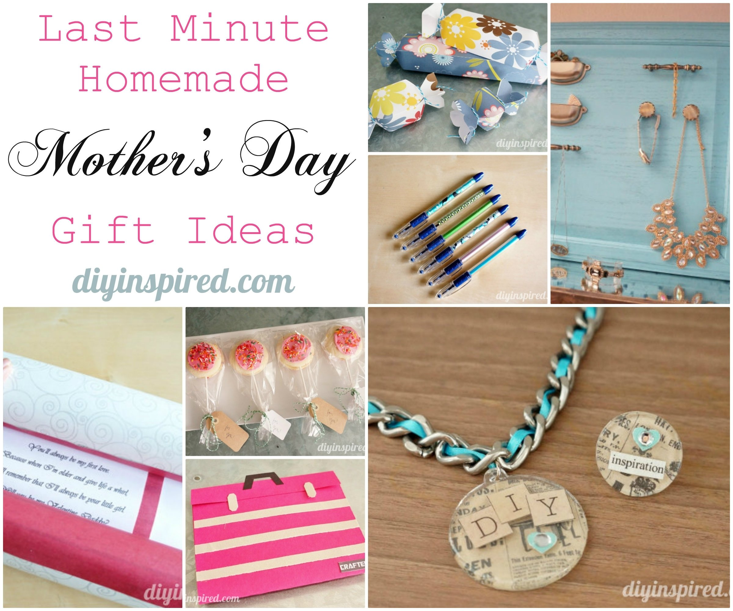 last minute homemade mother's day gift ideas - diy inspired