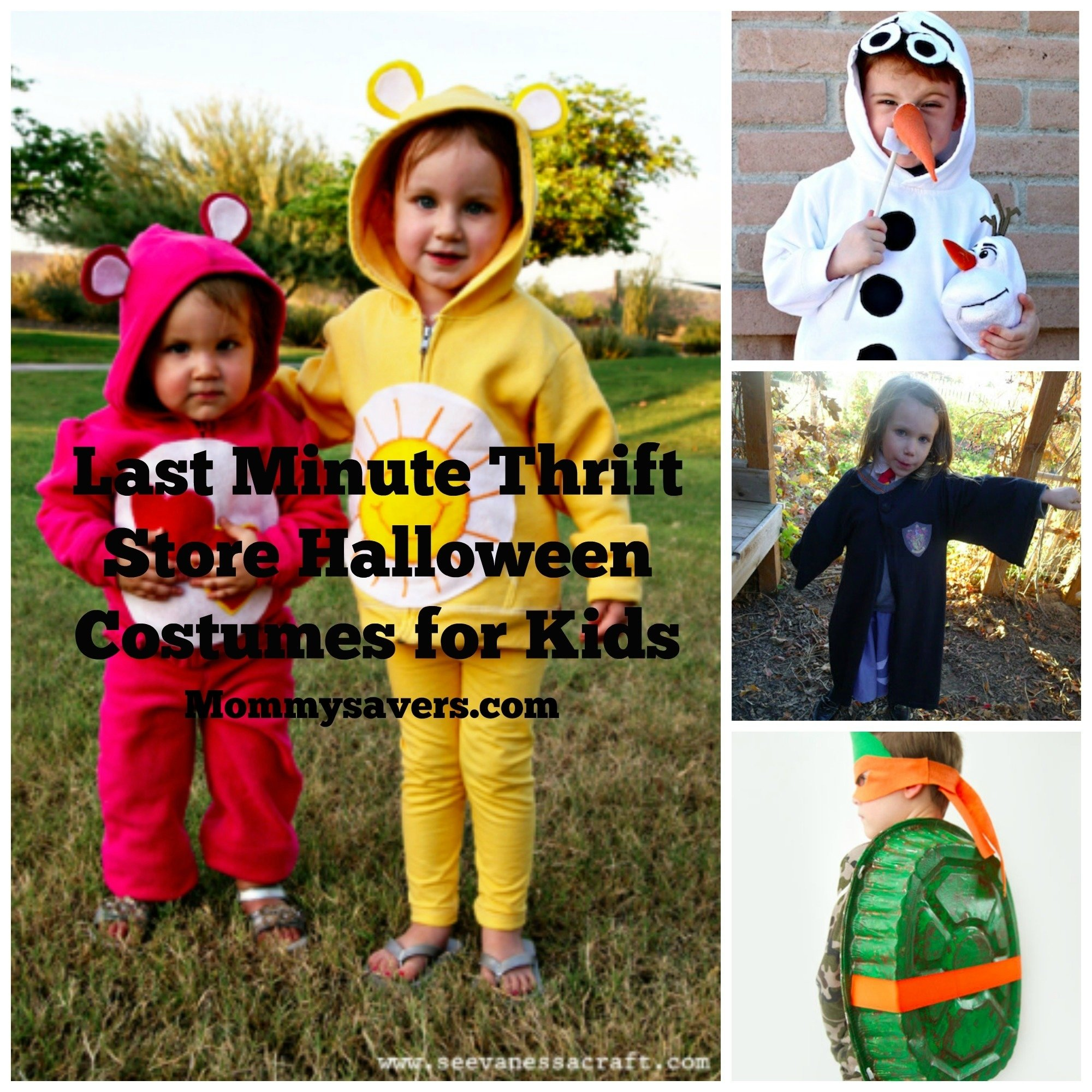 10 Cute Last Minute Halloween Costume Ideas last minute thrift store halloween costumes for kids mommysavers 2 2021