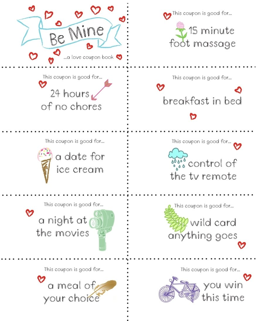 10 Fantastic Coupon Book For Husband Ideas last minute valentine free coupon book printable coupons gift and 1 2021