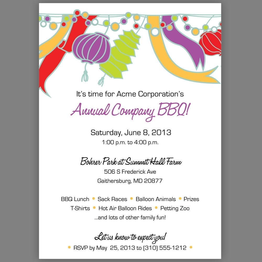 Bbq Party Invitation Wording Ideas | Expert Event