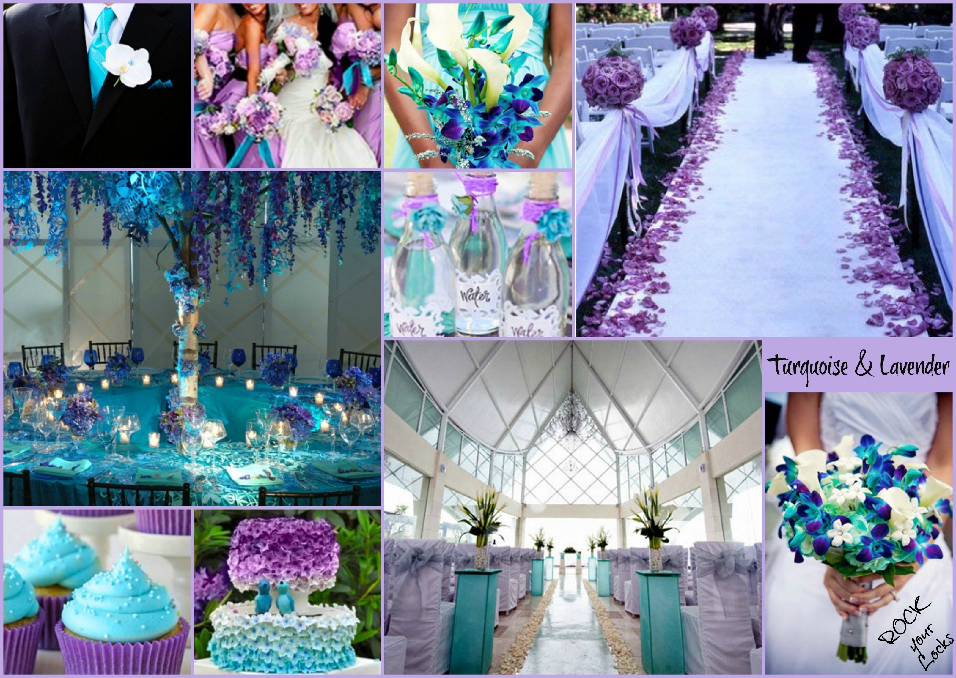 lavender and turquoise wedding inspirationrock your locks | my
