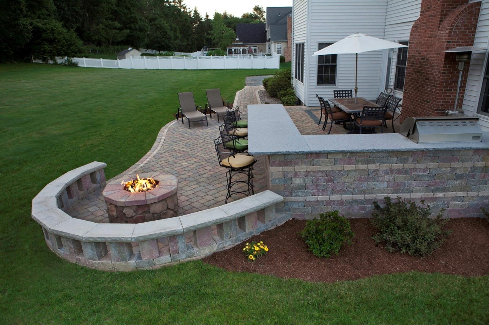 10 Fantastic Outdoor Patio Ideas With Fire Pit lavishly built in fire pit patio beautiful outdoor ideas 66 and 2020