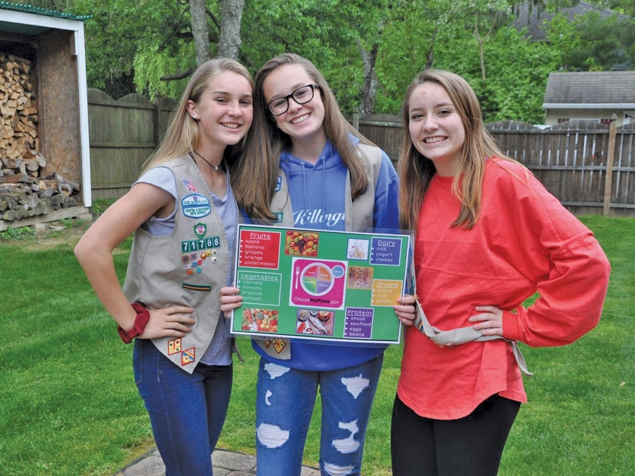 10 Awesome Girl Scouts Silver Award Ideas lawrence girl scouts teach the art of healthy food to earn silver award 2021