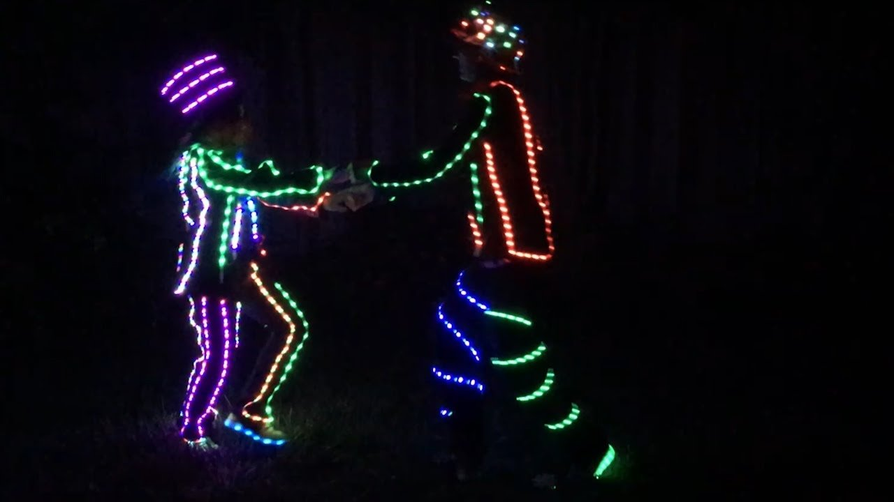 led light up costume diy! (burning man + halloween costume) - youtube