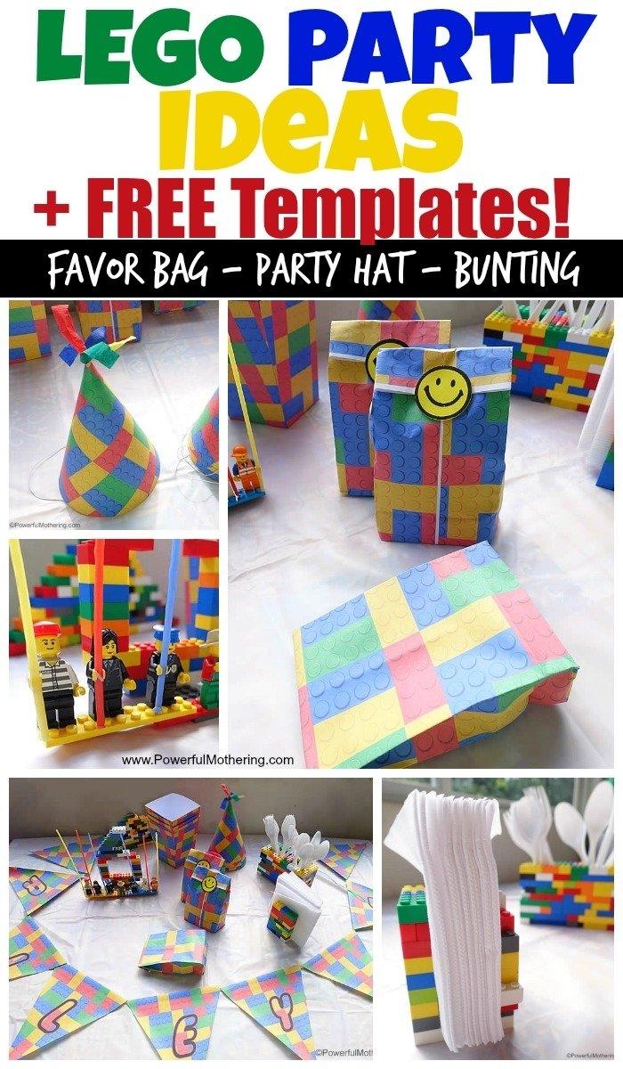 10 Amazing 5Th Birthday Party Ideas For Boys lego birthday party ideas and free lego templates 2020