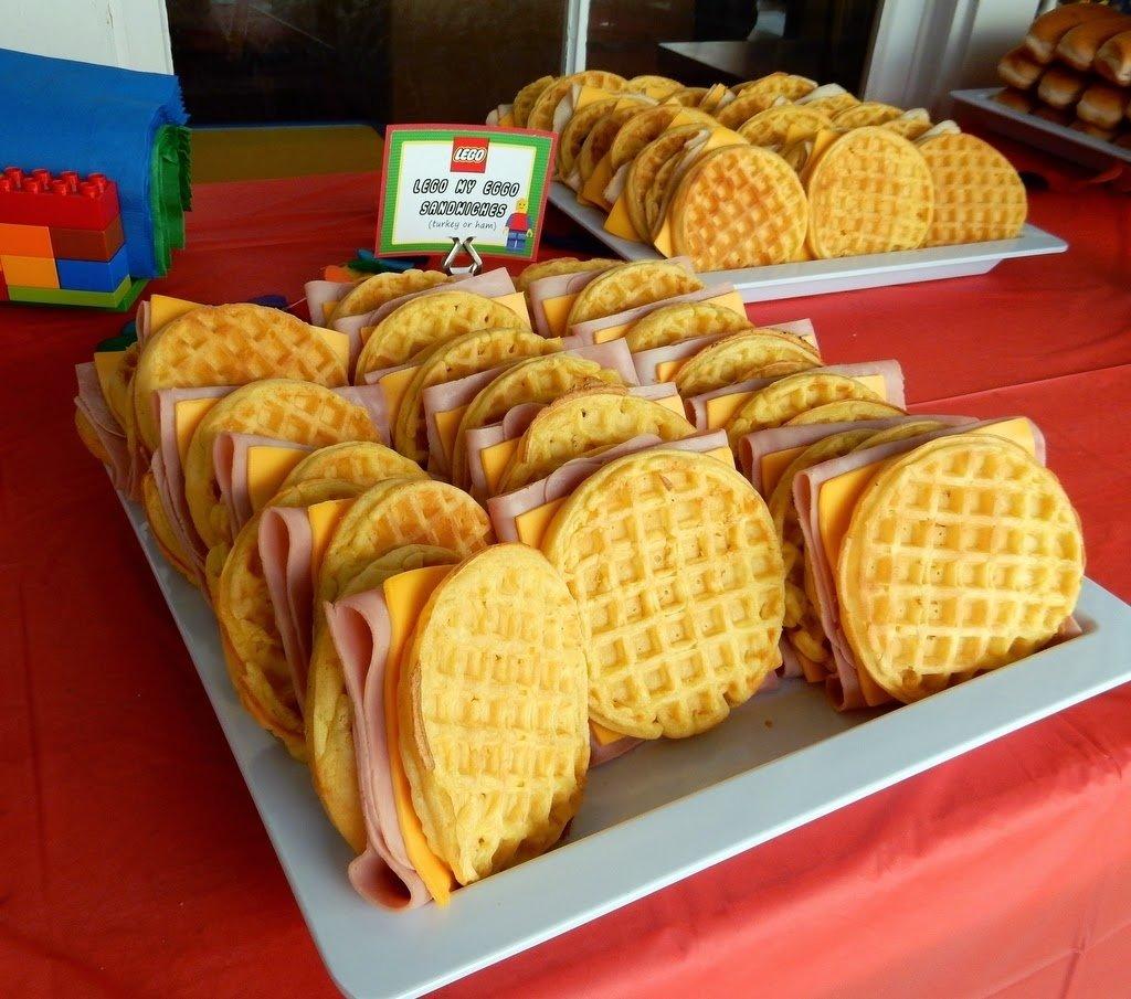 10 Nice Lego Birthday Party Food Ideas lego party food lego my eggo sandwiches party ideas pinterest 2020
