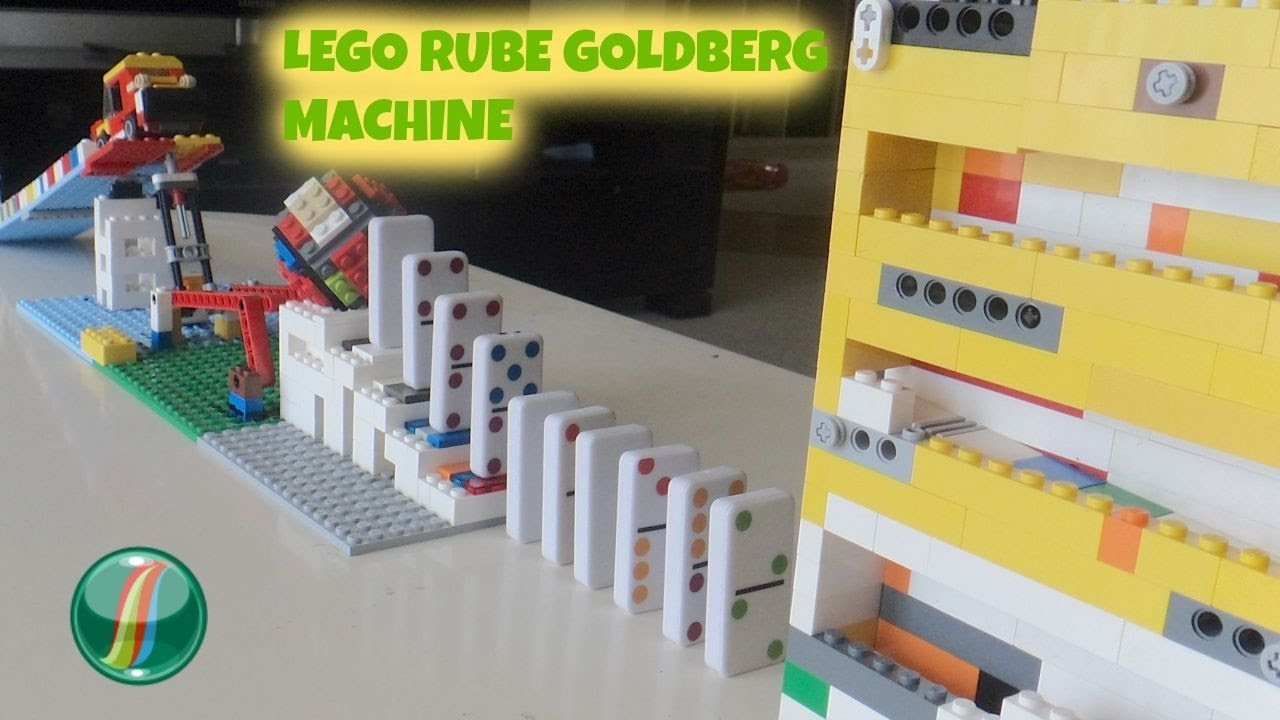lego rube goldberg machine - ( no electric power ) - school project