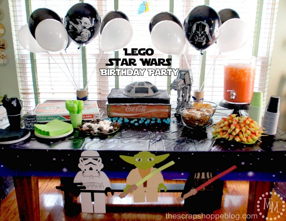 lego star wars birthday party - the scrap shoppe