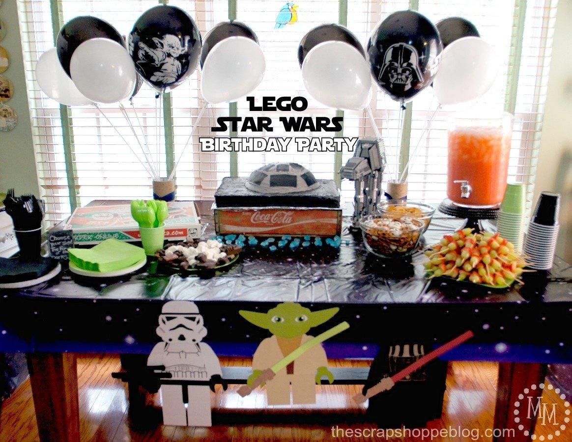 10 Fantastic Lego Star Wars Birthday Party Ideas lego star wars birthday party the scrap shoppe 2021