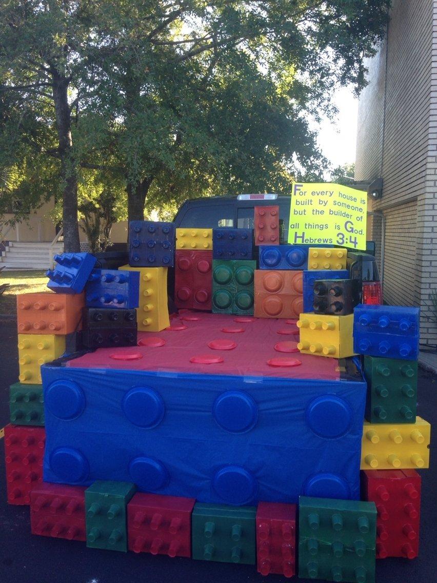 10 Stylish Trunk Or Treat Decorating Ideas For Trucks lego trunk or treat idea kids loved the large blocks halloween 4 2021