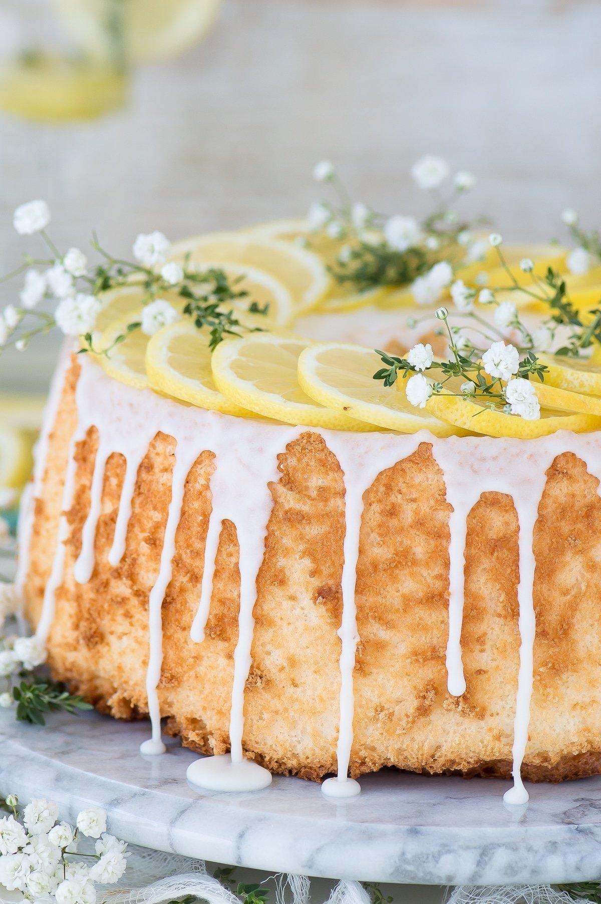 10 Famous Angel Food Cake Recipe Ideas lemon angel food cake the first year 2020