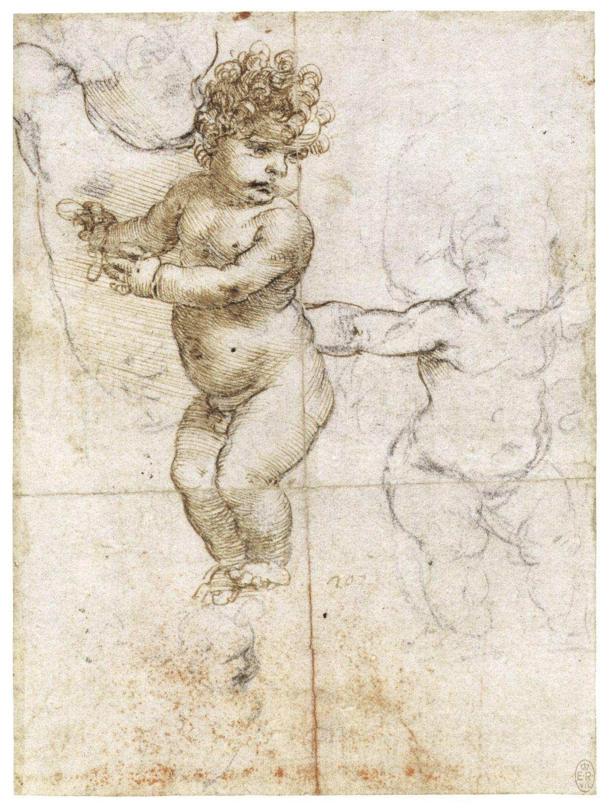 leonardo da vinci, sketch of baby | historical inspiration