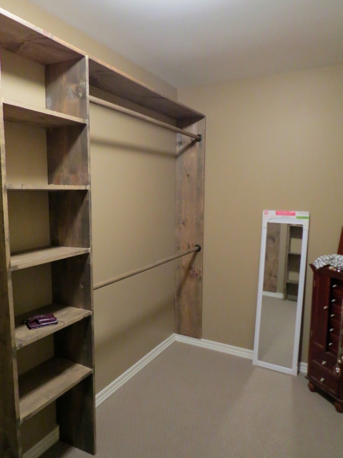 let's just build a house!: walk-in closets: no more living out of