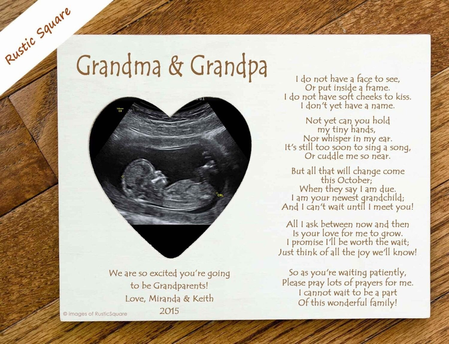 10 Fantastic Baby Announcement Ideas For Grandparents letter with a gift for grandparents pregnancy announced babies 2020
