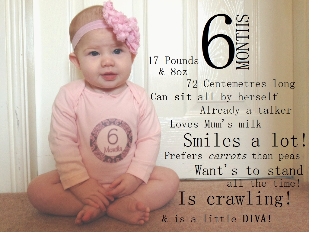 10 Fabulous 6 Month Baby Picture Ideas letters to amelia 6 months baby pictures picture ideas and babies 1