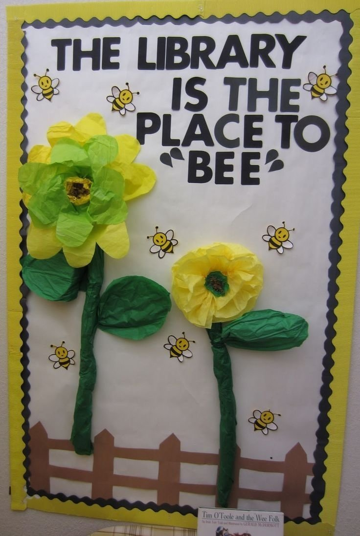 10 Attractive Spring Library Bulletin Board Ideas library bulletin board for spring library is the place to bee