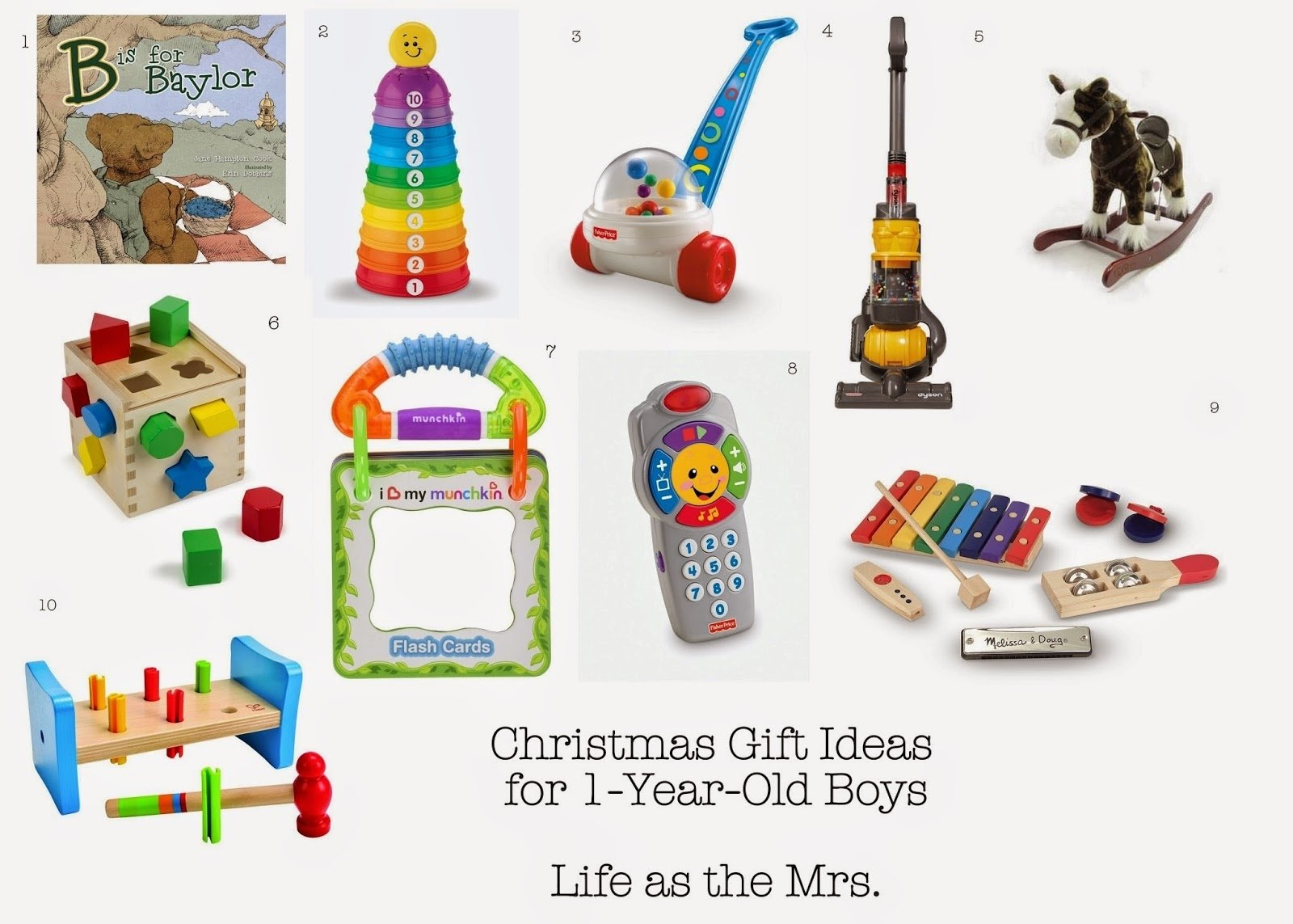 10 Ideal One Year Old Gift Ideas life as the mrs christmas gift ideas for one year old boys 2 2020