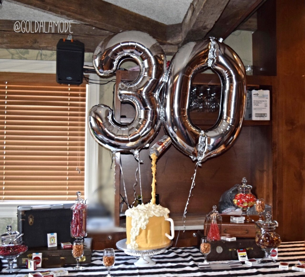10 Lovable Ideas For 30Th Birthday Party Him Lifestyle Blog Adult Cake Table